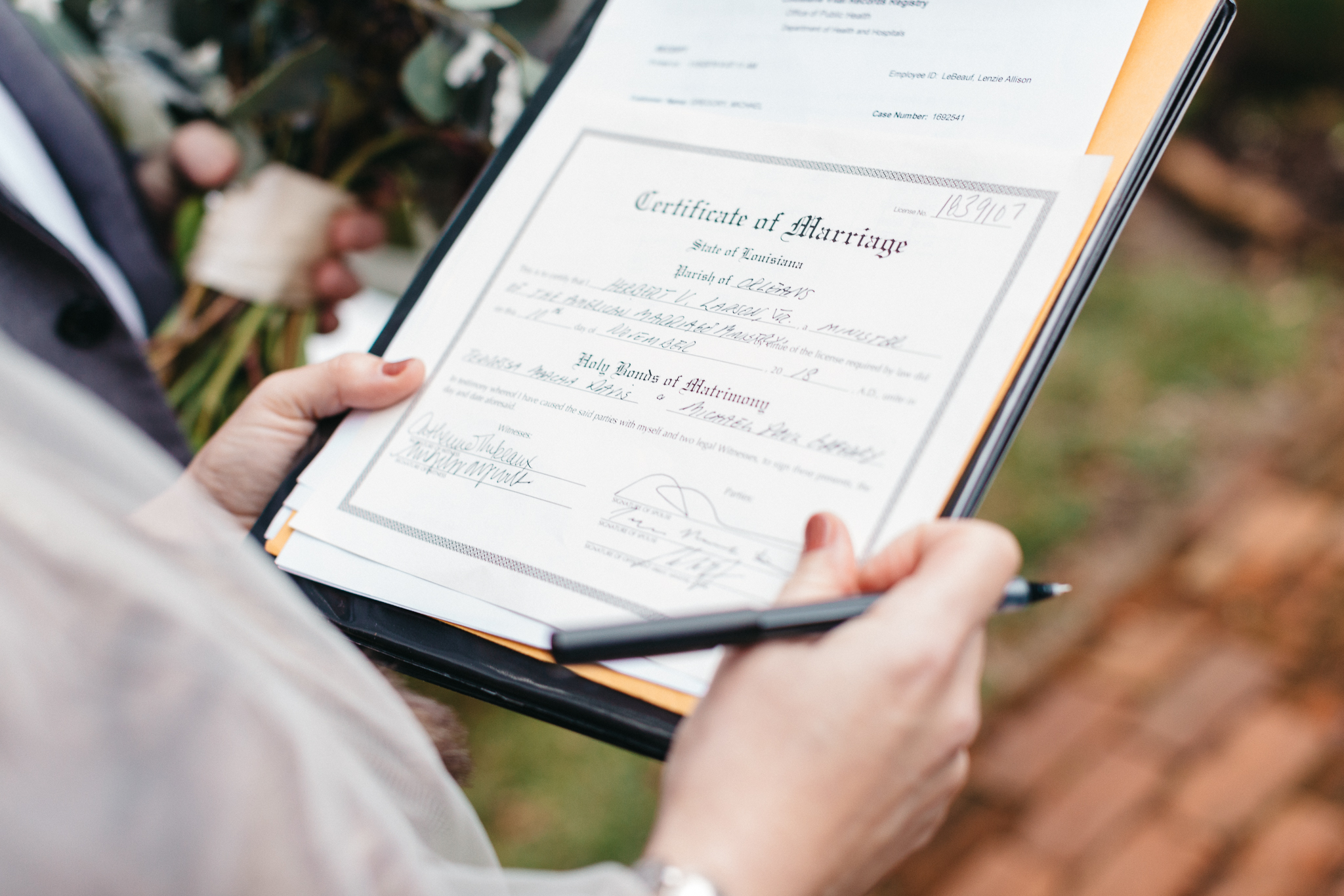Southern Fete, Southern Wedding, Certificate of Marriage, Mark Aycock Photography