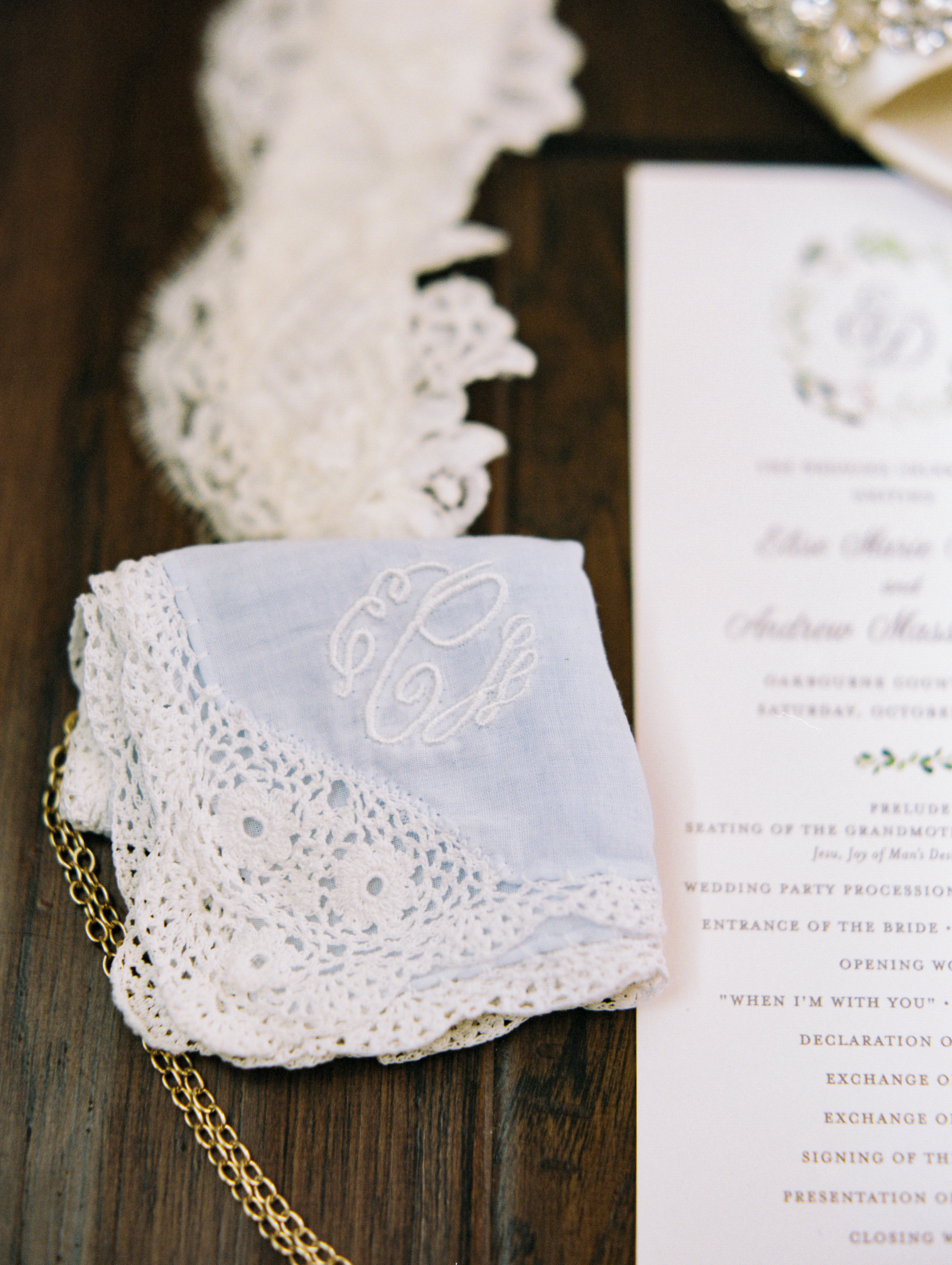 Southern Fete, Southern Wedding, Embroidered Napkin