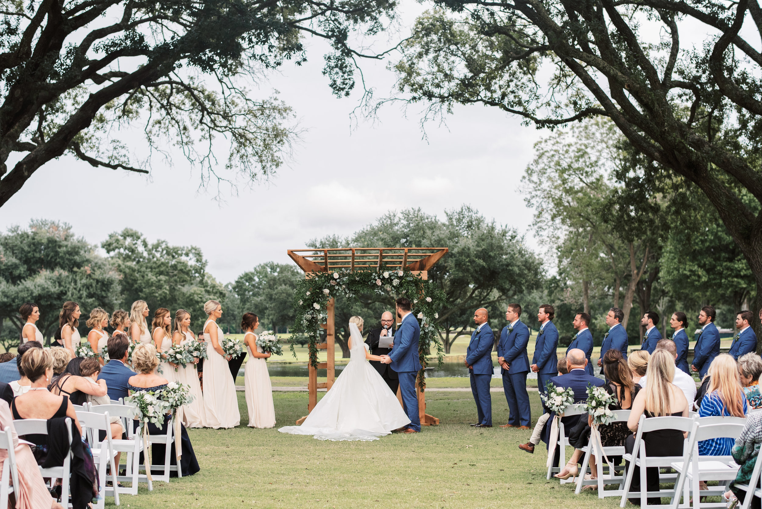 Southern Fete, Southern Wedding, Ceremony, Oakbourne Country Club, Outside Wedding