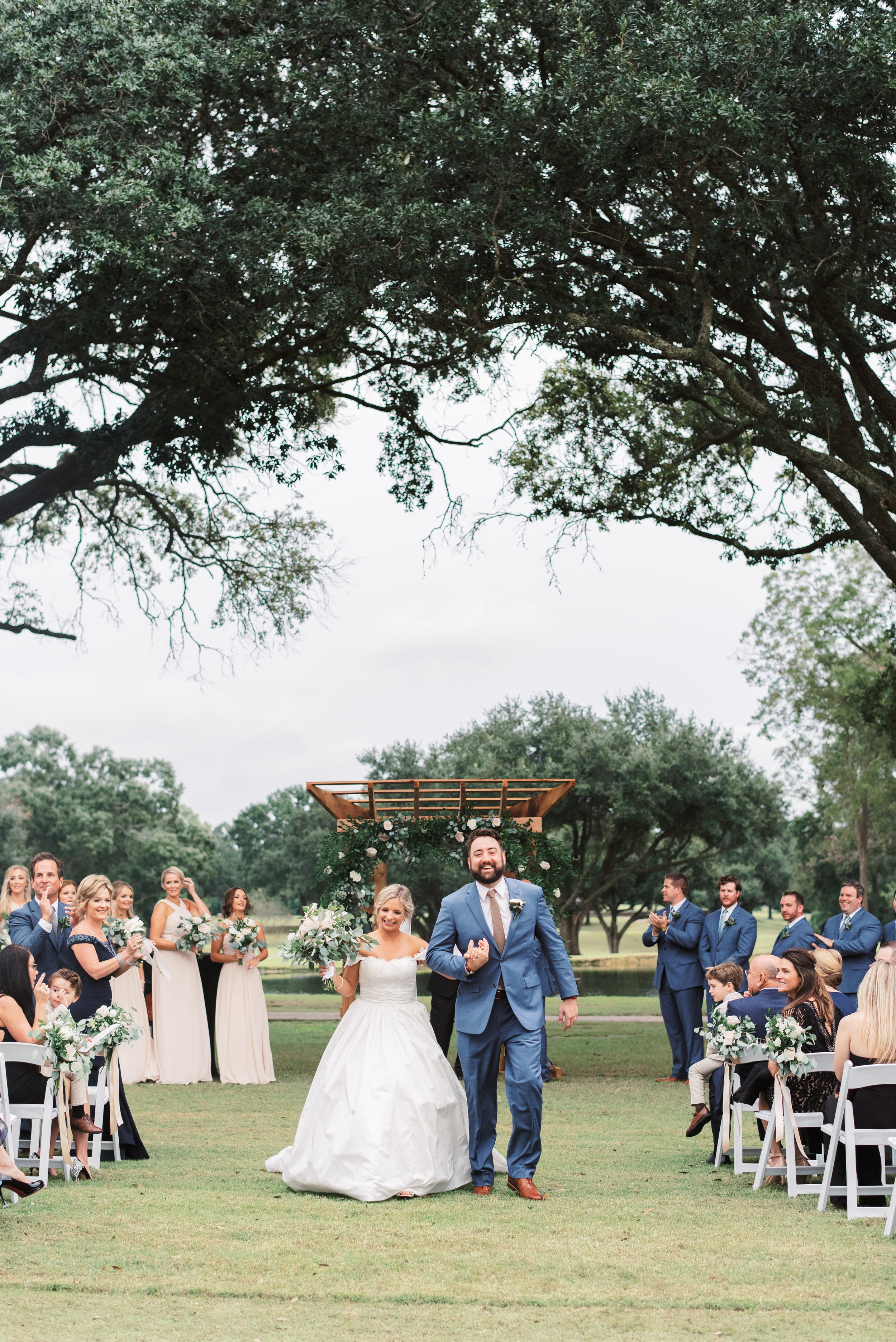 Southern Fete, Southern Wedding, Bride and Groom, Ceremony, Outside Wedding, Sarah Beth Photography