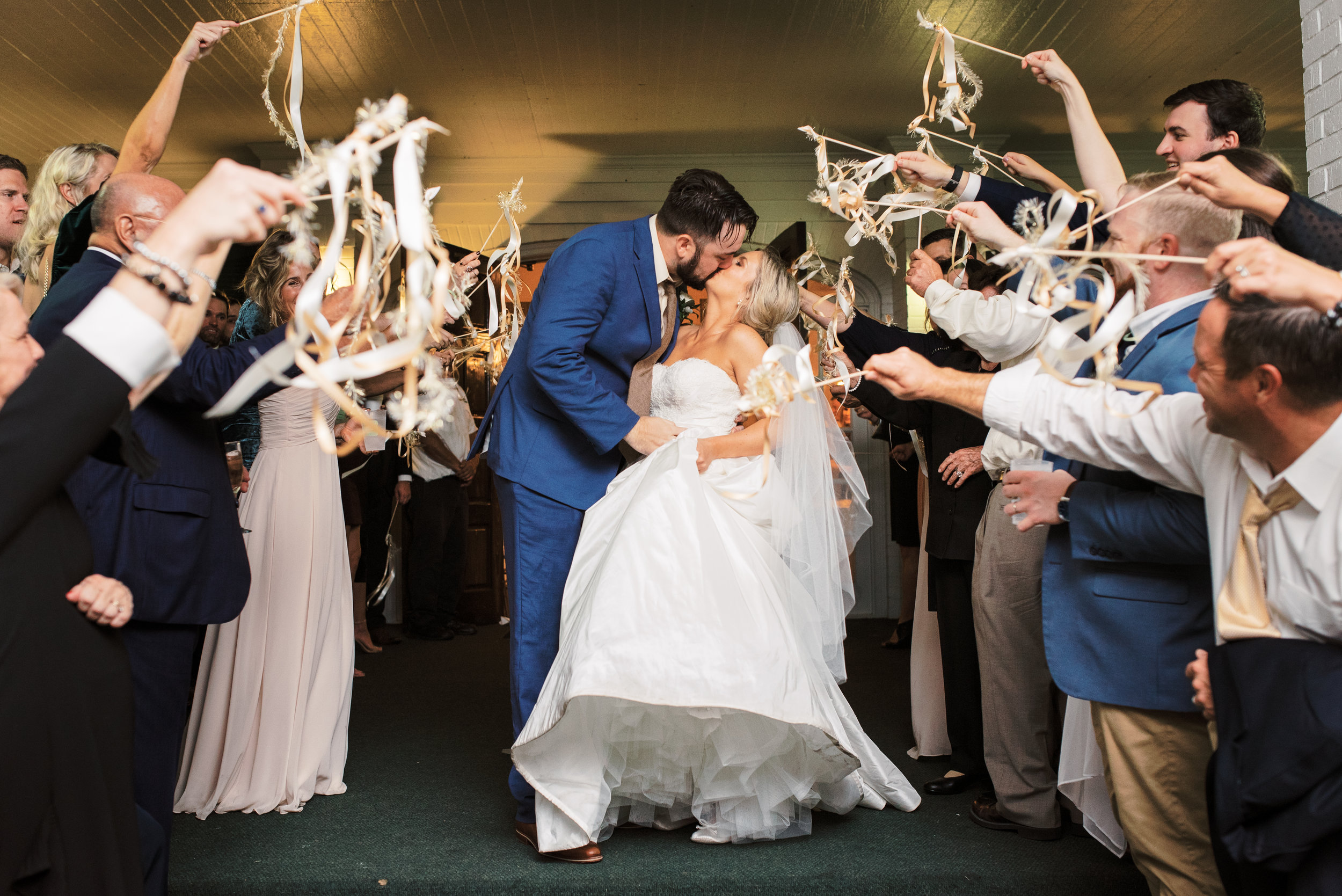 Southern Fete, Southern Wedding, Bride and Groom, Ribbon Exit, Special Moment, Sarah Beth Photography