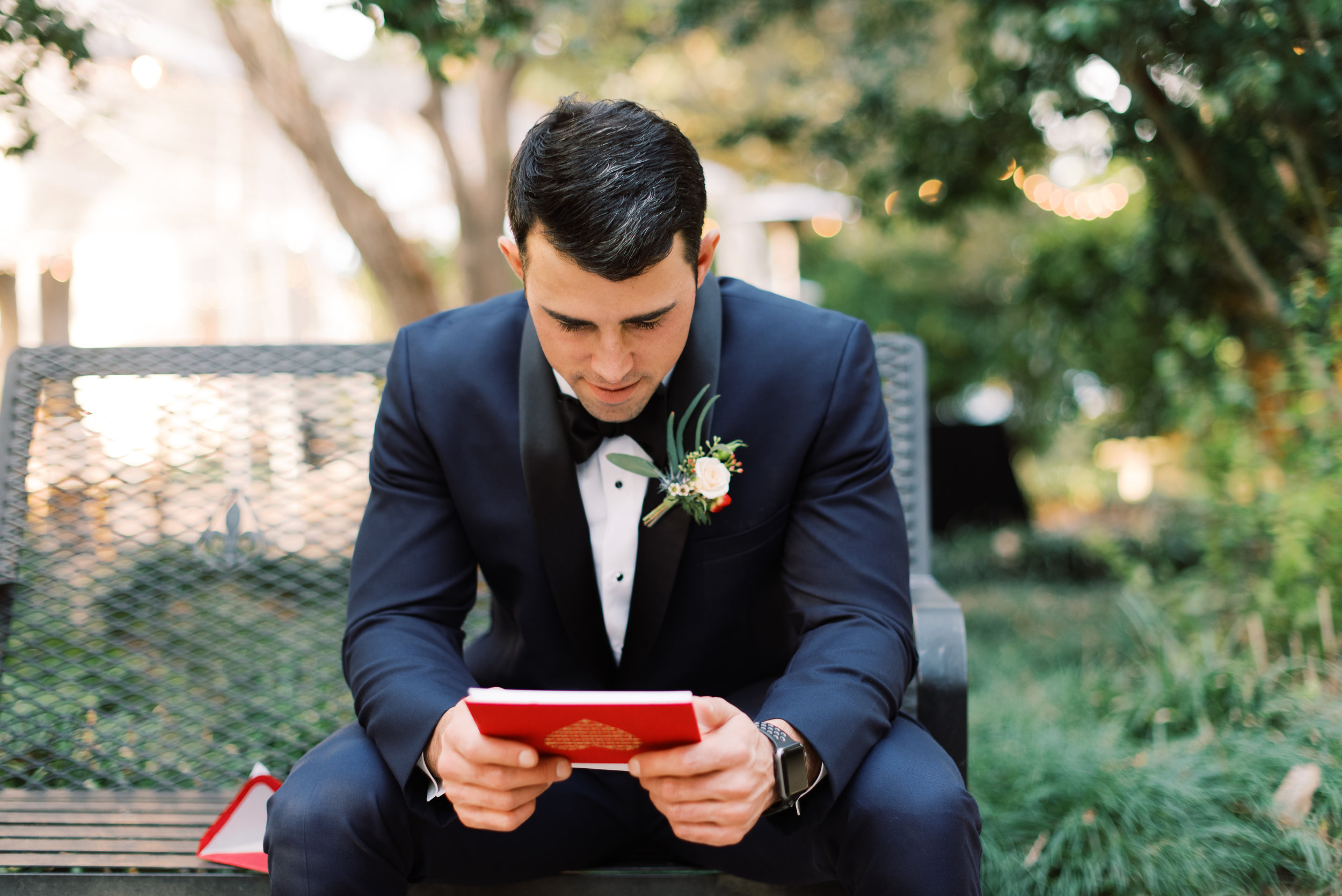 Southern Fete, Southern Wedding, Groom, Note from the Bride, Sarah Beth Photography, Peregrin's Florist