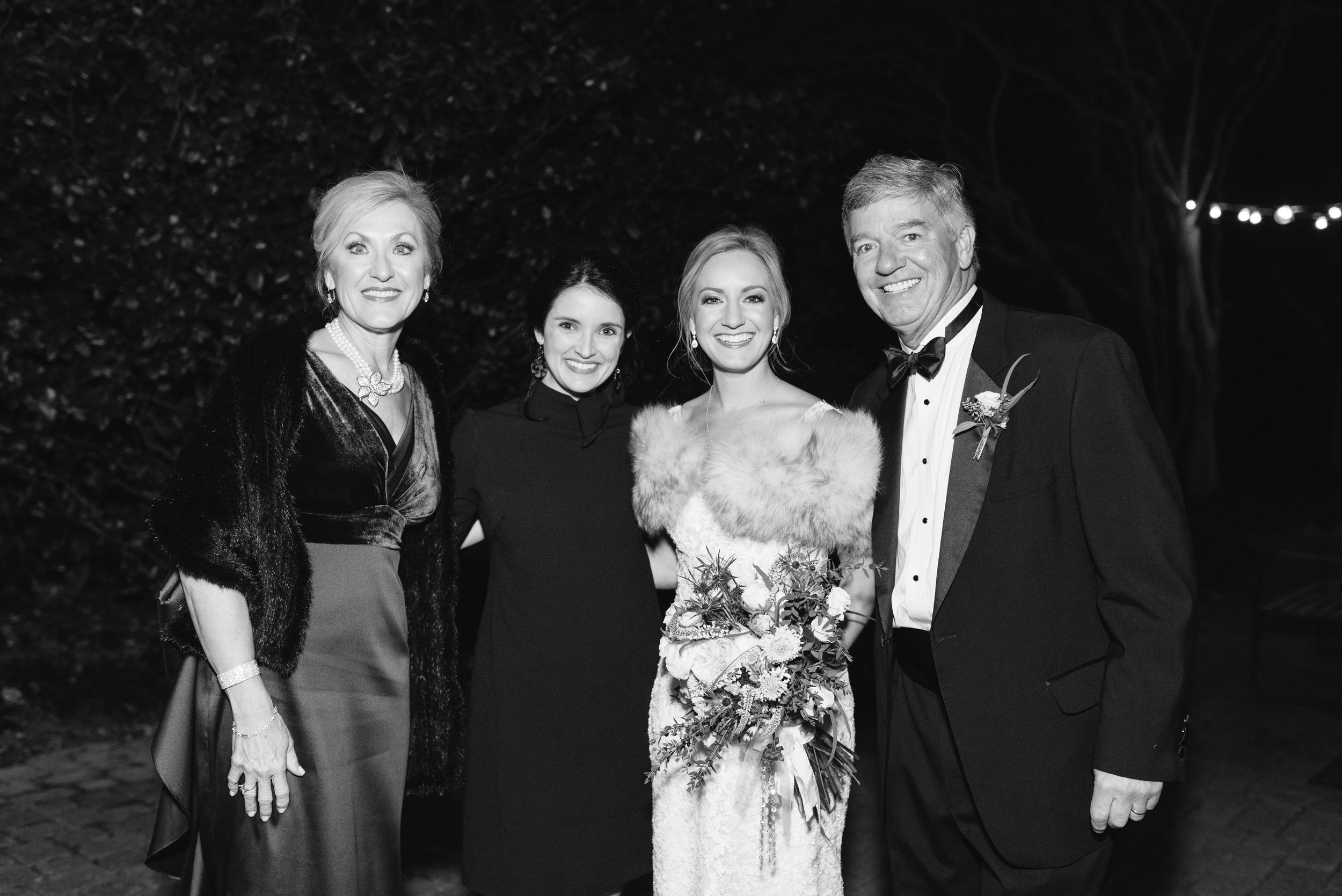 Southern Fete, Southern Wedding, Bride and her parents with the Event Planner