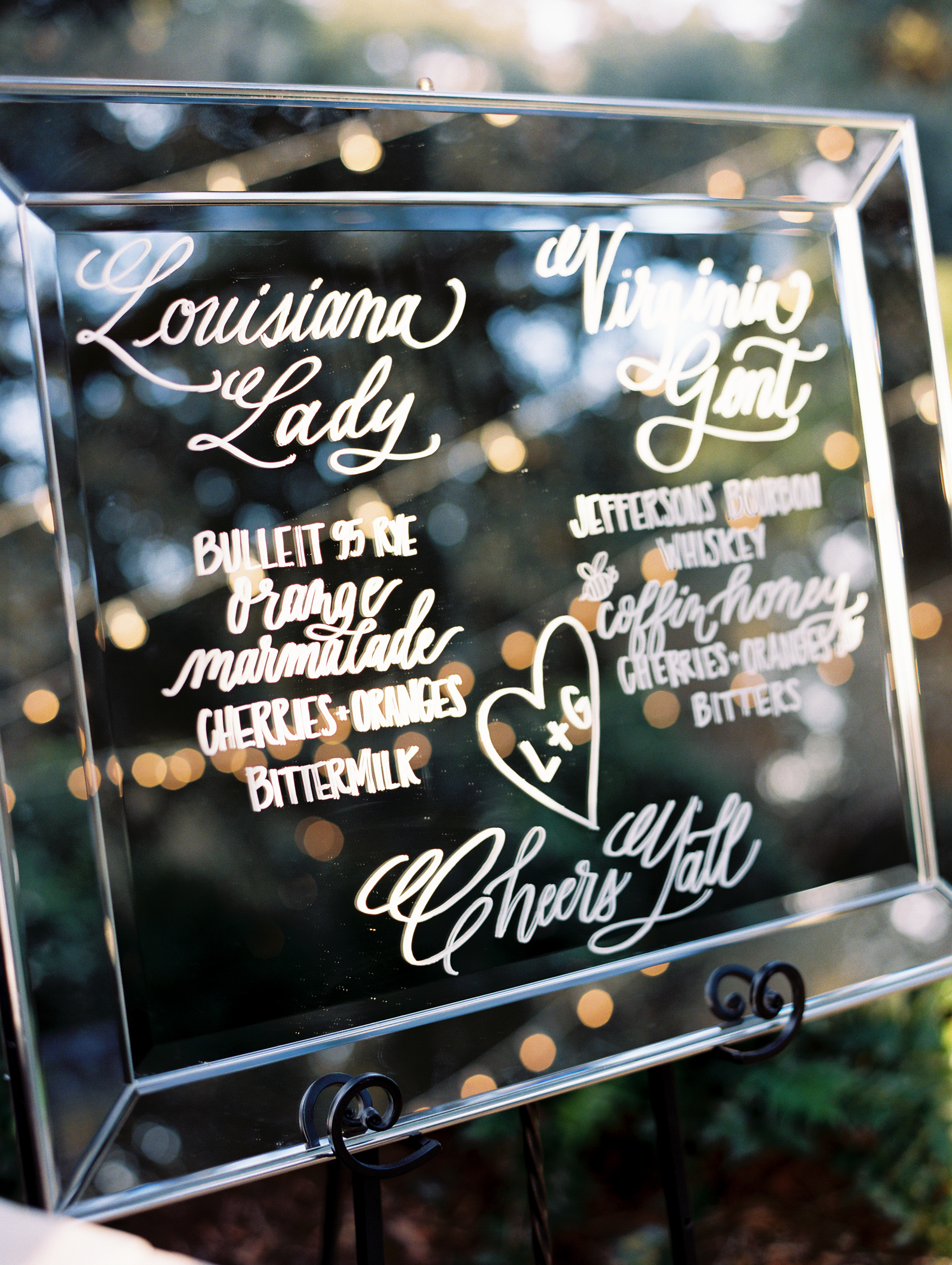 Southern Fete, Southern Wedding, St. Blanc Calligraphy, Sign Calligraphy