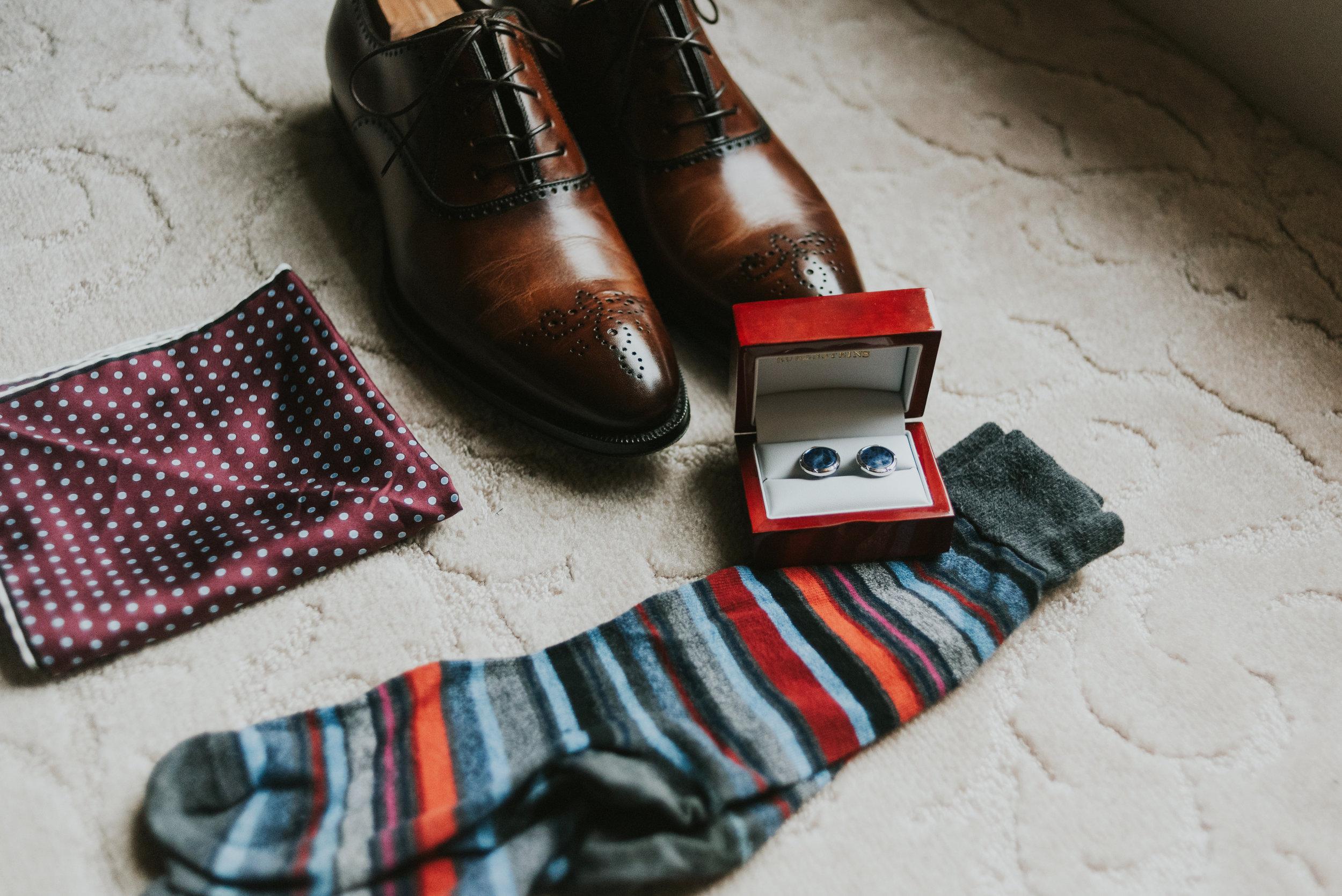 Southern Fete, Southern Wedding, Groom's shoes, Groom's socks, Jen Menard Photo