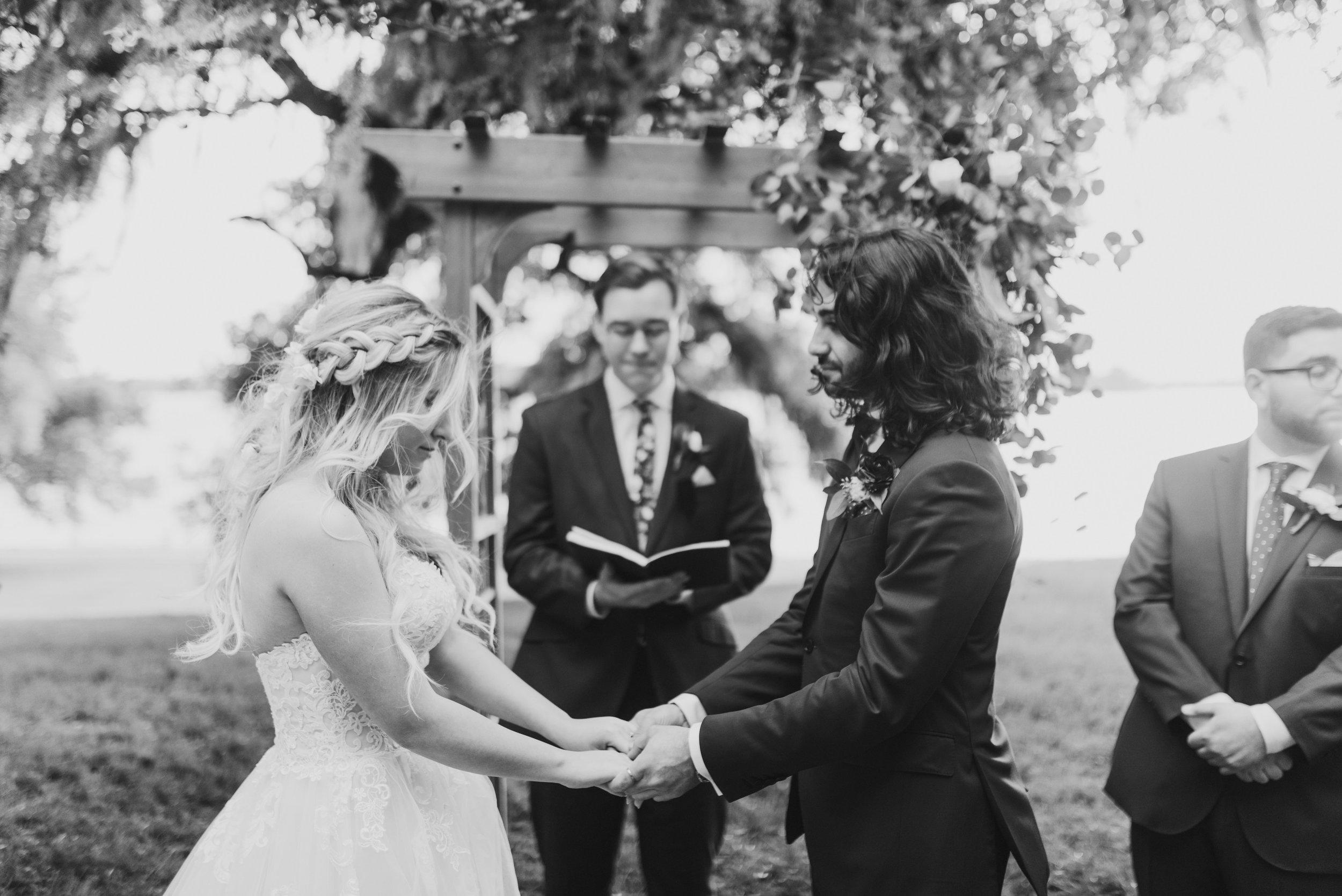 Southern Fete, Southern Wedding, Bride and Groom, Ceremony, Rip Van Winkle Gardens, Jen Menard Photo