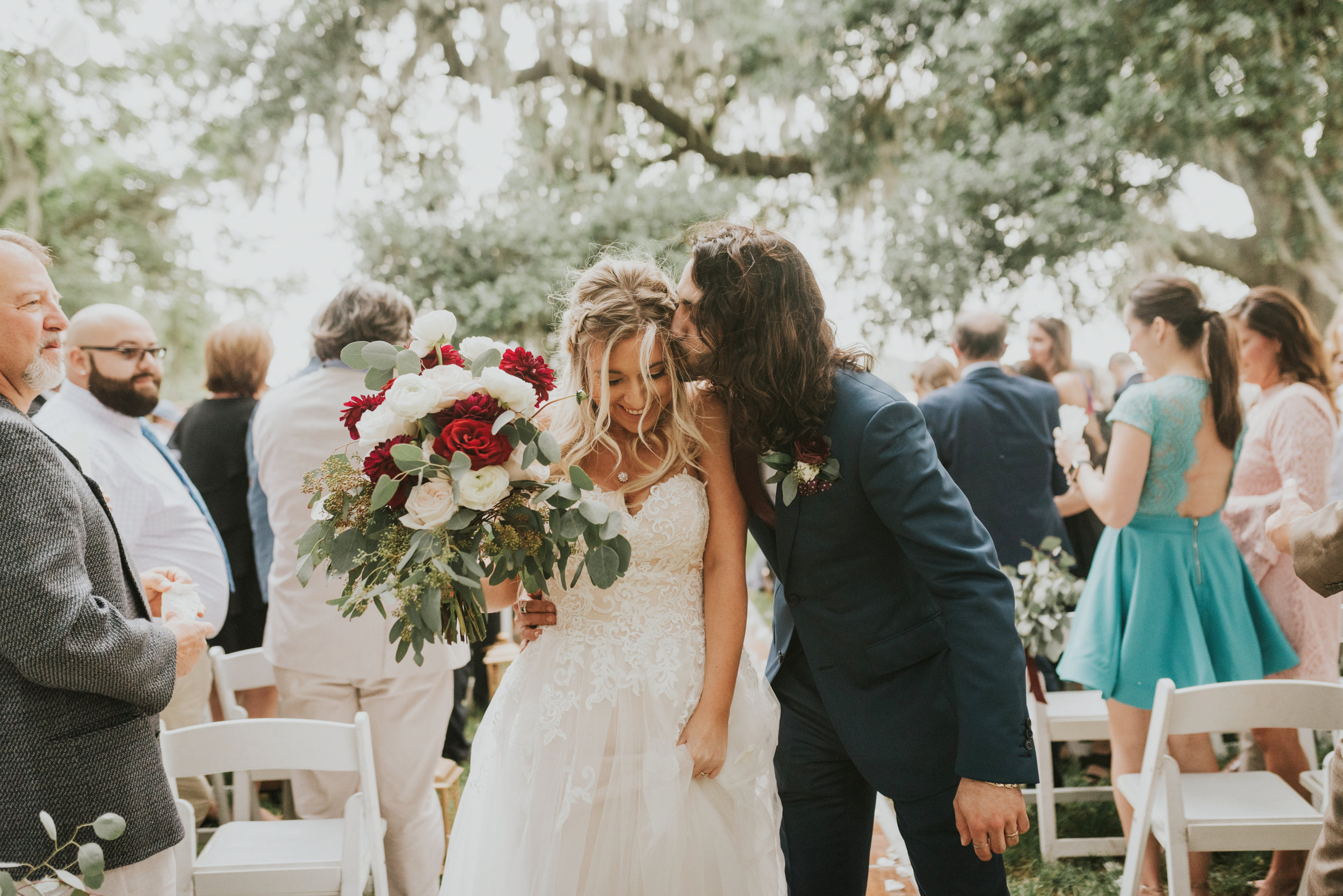 Southern Fete, Southern Wedding, Bride and Groom, Rip Van Winkle Gardens, Jen Menard Photo