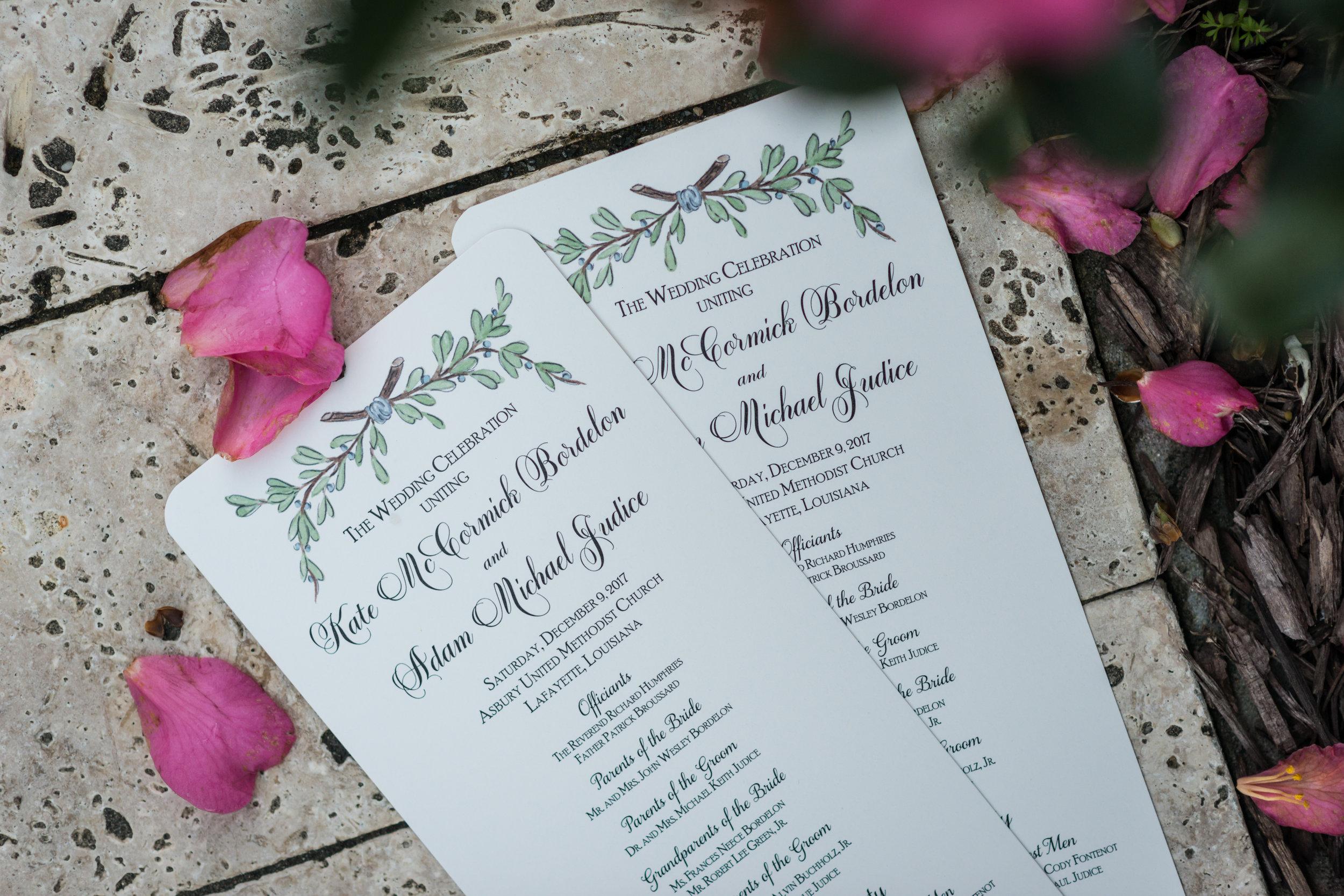 Southern Fete, Southern Wedding, Wedding Ceremony Program, Jay Faugot Photography