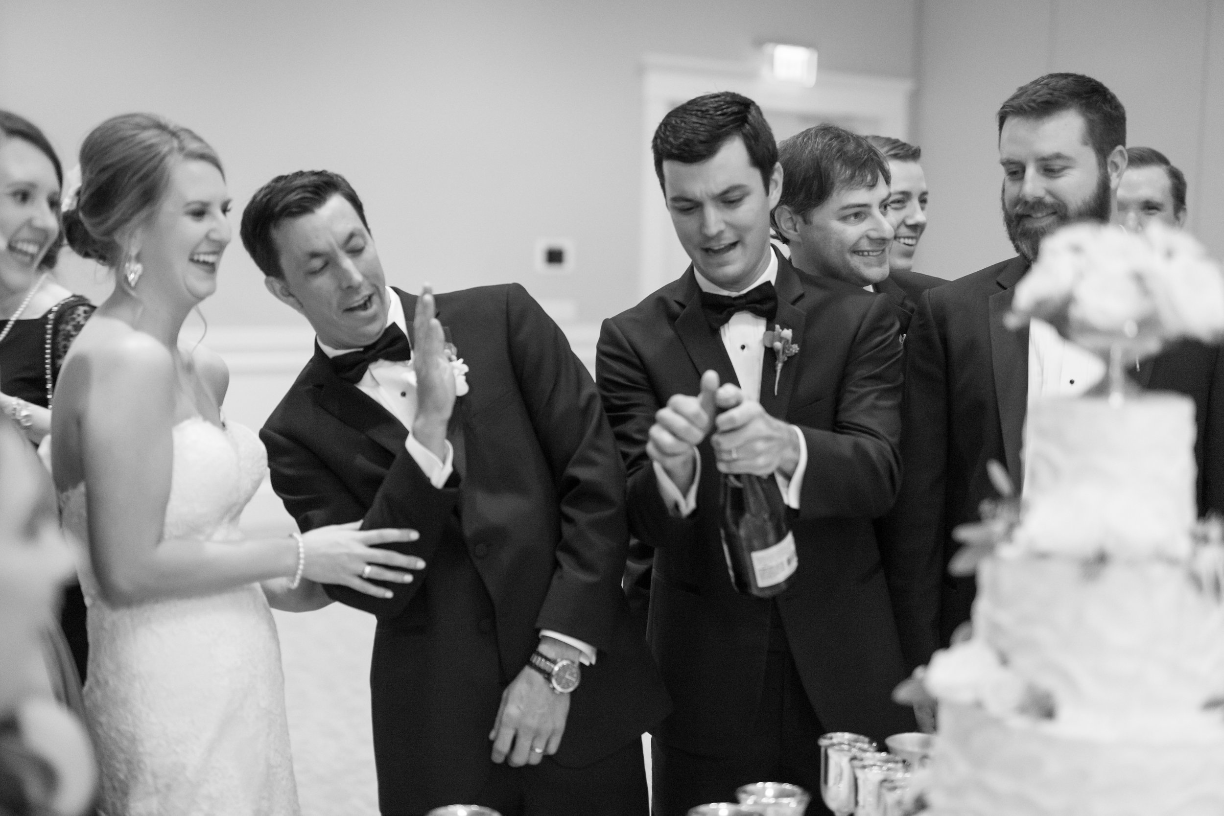 Southern Fete, Southern Wedding, Bridal Party, Champagne Toast, Jay Faugot Photography, Le Pavillon, Crystal Weddings