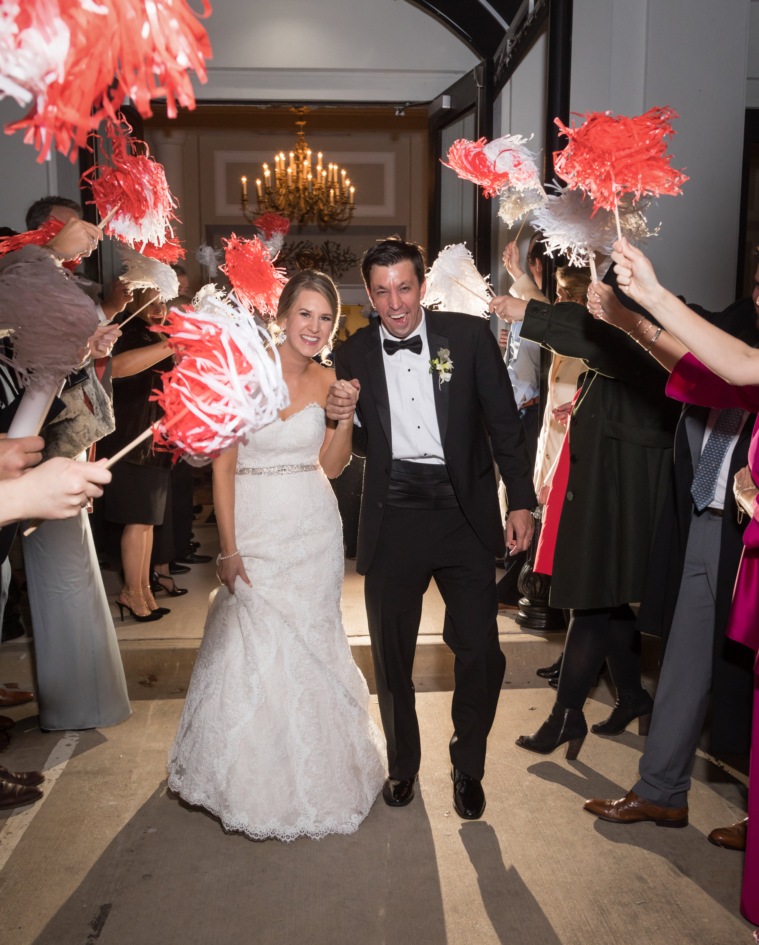 Southern Fete, Southern Wedding, Bride and Groom, Pom Exit, Phat Hat, Le Pavillon