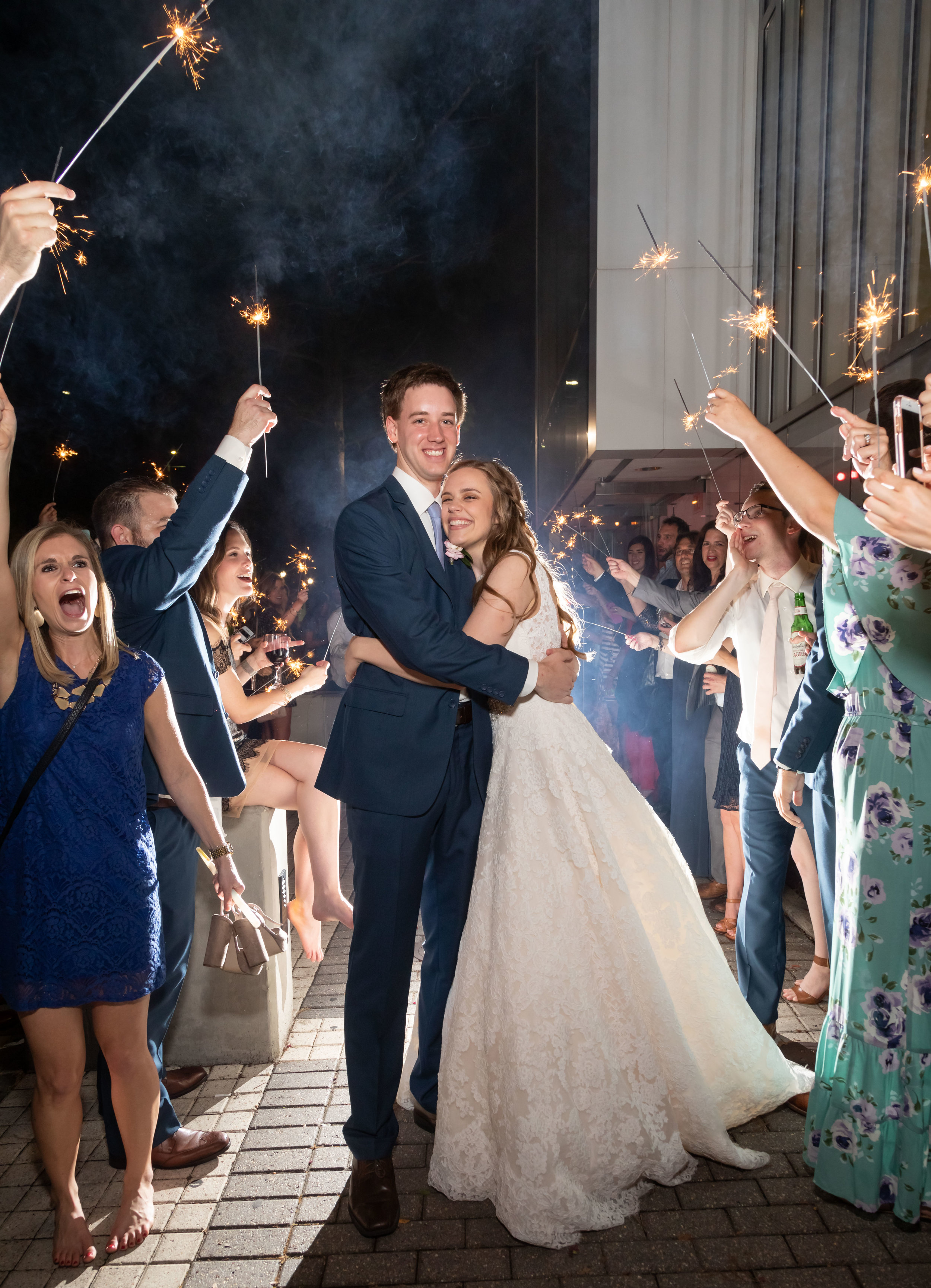 Southern Fete, Southern Wedding, Acadiana Center for the Arts, Sparkler Exit, Bride and Groom, Jay Faugot Photography
