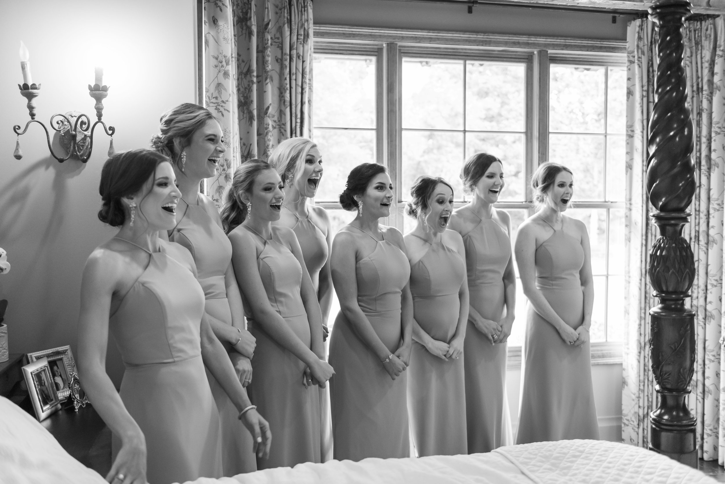 Southern Fete, Southern Wedding, Bridesmaids first look, Jay Faugot Photography