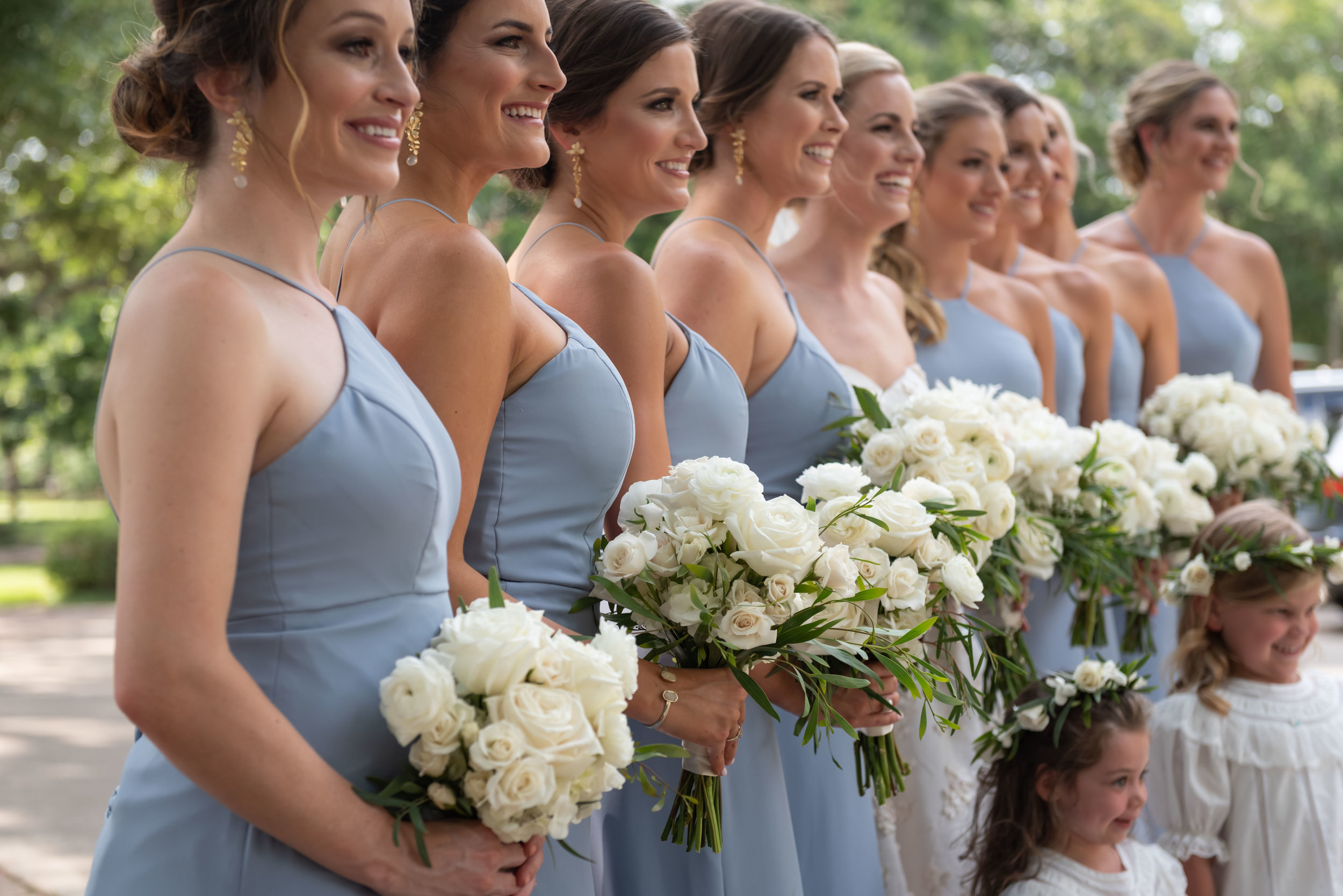 Southern Fete, Southern Wedding, Flowers by Rodney, Periwinkle Bridesmaids dresses, Jay Faugot Photography