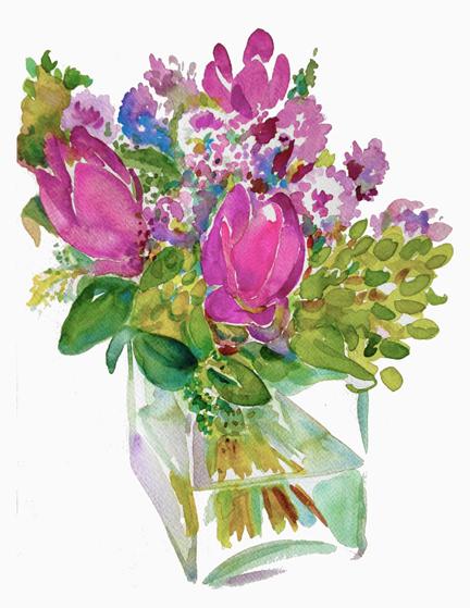 Bouquet II —  Curcumas, Alliums & Lilacs