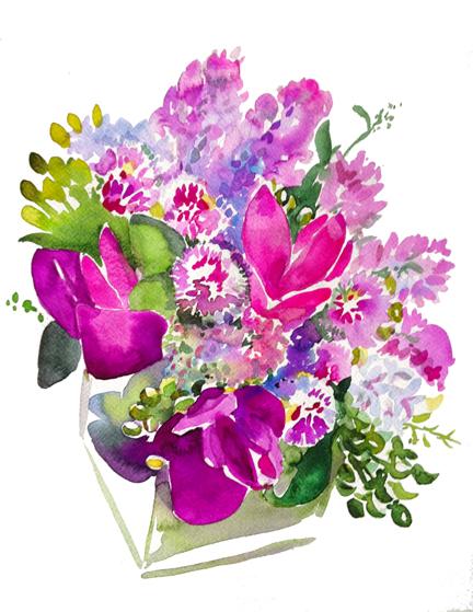 Bouquet III - Curcumas, Alliums, Liiacs