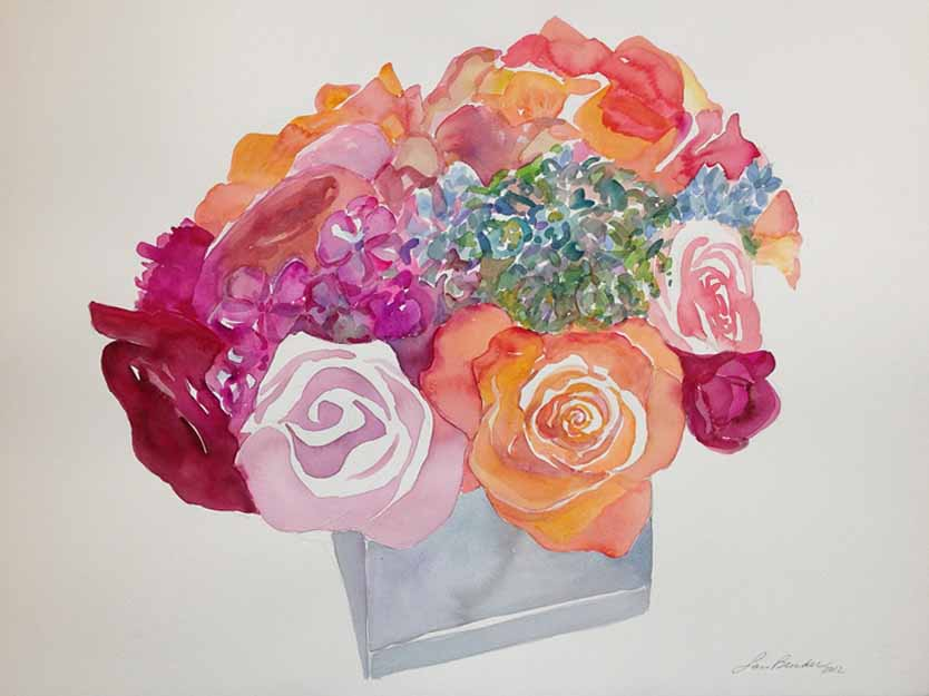 """""""Roses Bouquet"""" — Red, Yellow, Coral I"""
