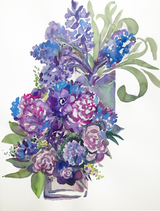"""""""2 Bouquets: Anemones & Hyacinths"""""""