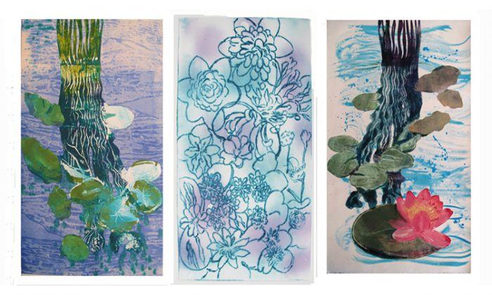 """""""Waterlilies Triptych I"""""""
