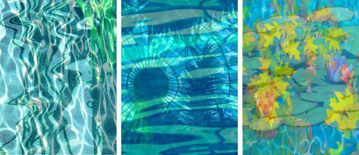 """""""Aqua Pool Triptych, """""""