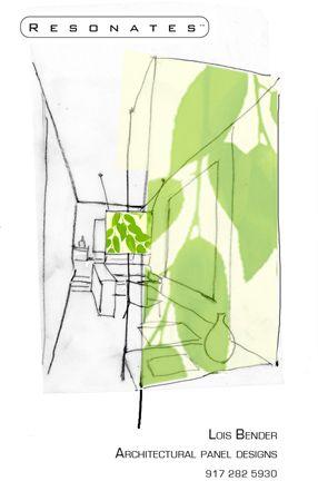 Green Leaf Translucent Panel Sketch