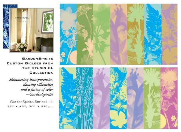 "Studio EL, Editions Limited Prints ""GardenSpirits I and II"""