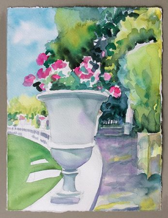 """Urns of Geraniums Le-Jardin du Luxembourg II"""