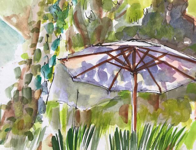 Shadows on Umbrellas