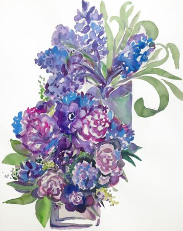 FLORA BLOOM WATERCOLORS — A SPRING BOUQUET