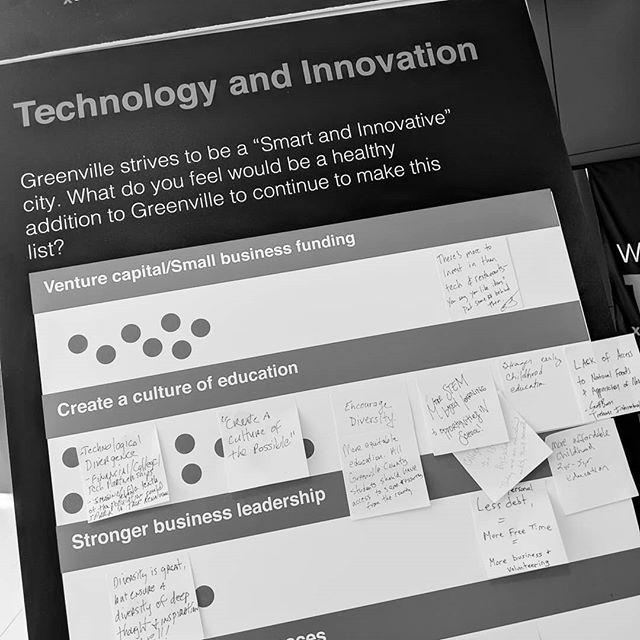 #Takeaway moment , public input spurs big ideas #innovation #lifestyle #community #TEDXGVL