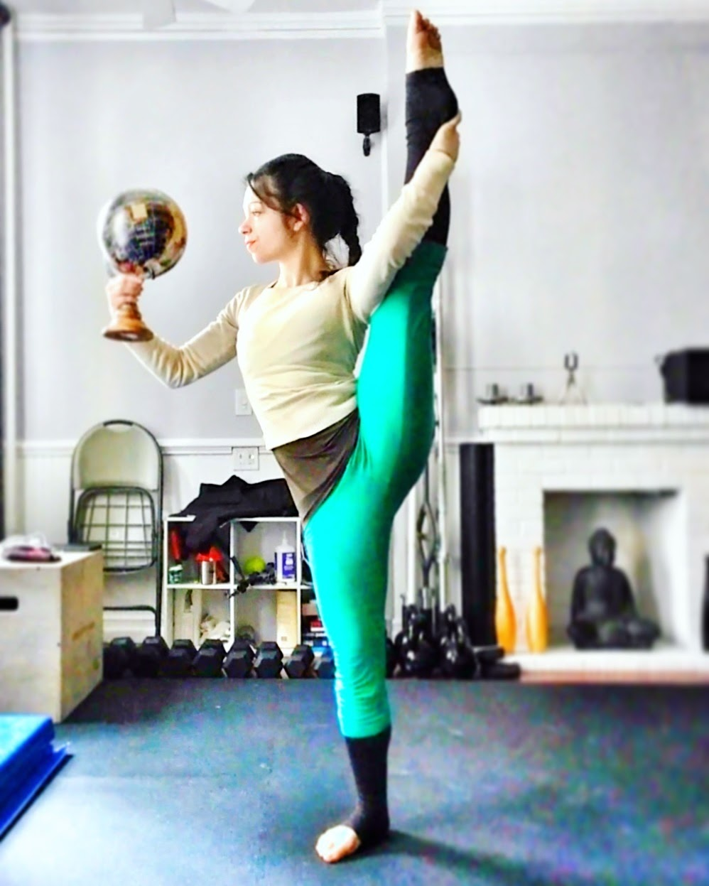 Standing Split with Globe Yoga and World Contortion Ballerina