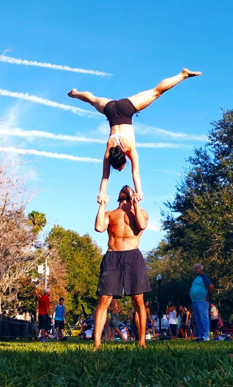 hand to hand handstand Acro St Pete Foot to Foot Acroyoga Acrobatics Circus