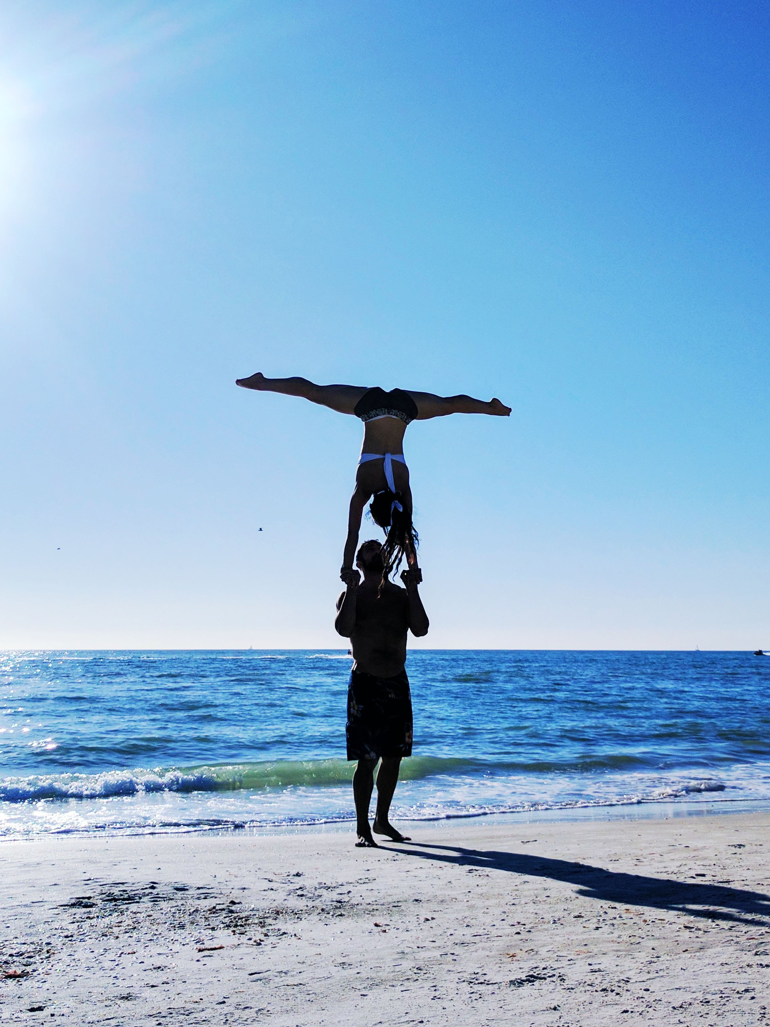 Hand to Hand Handstand Trick on the beach in St Petersburg Florida