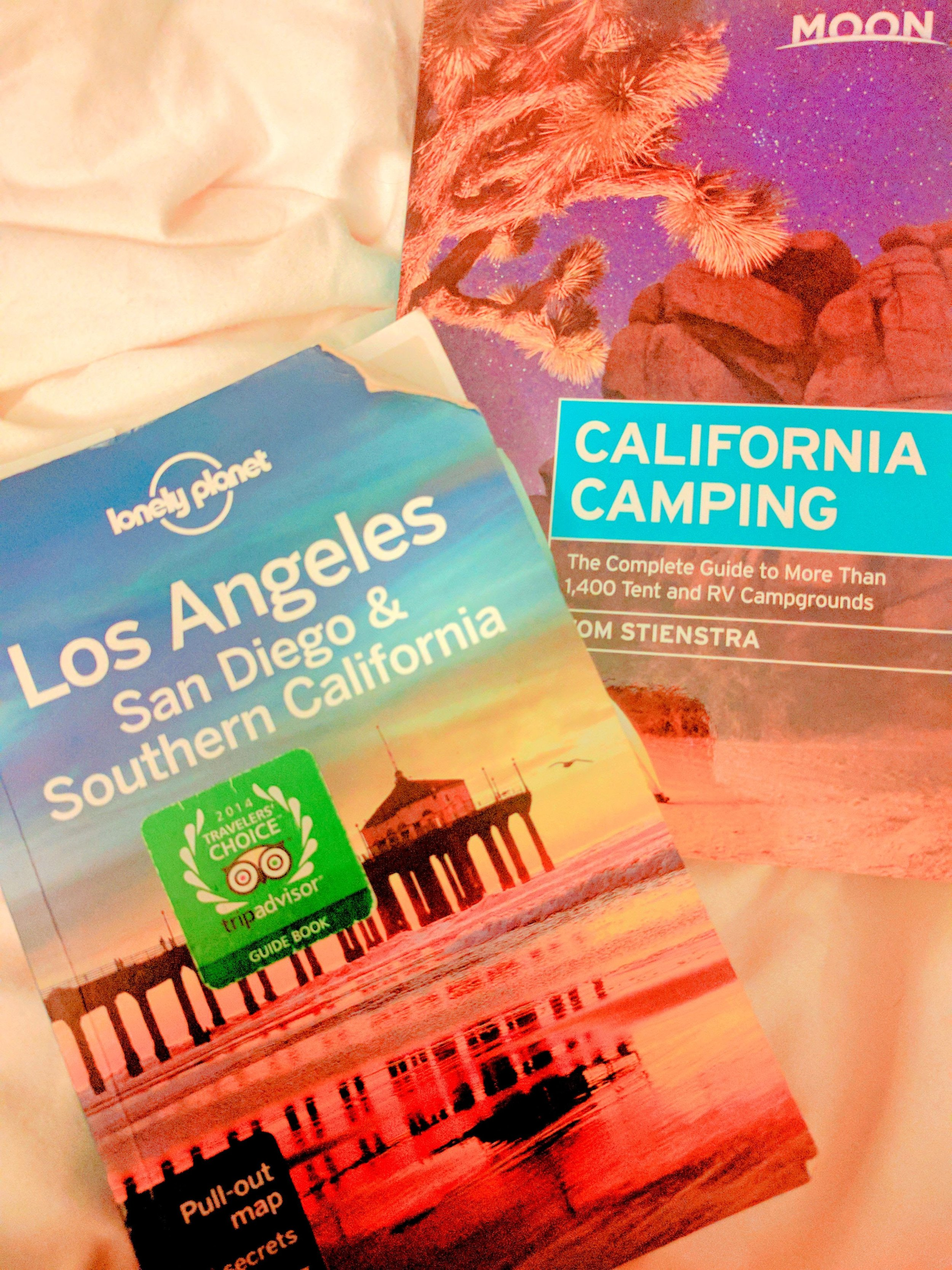 California Lonely Planet Camping Guide Books