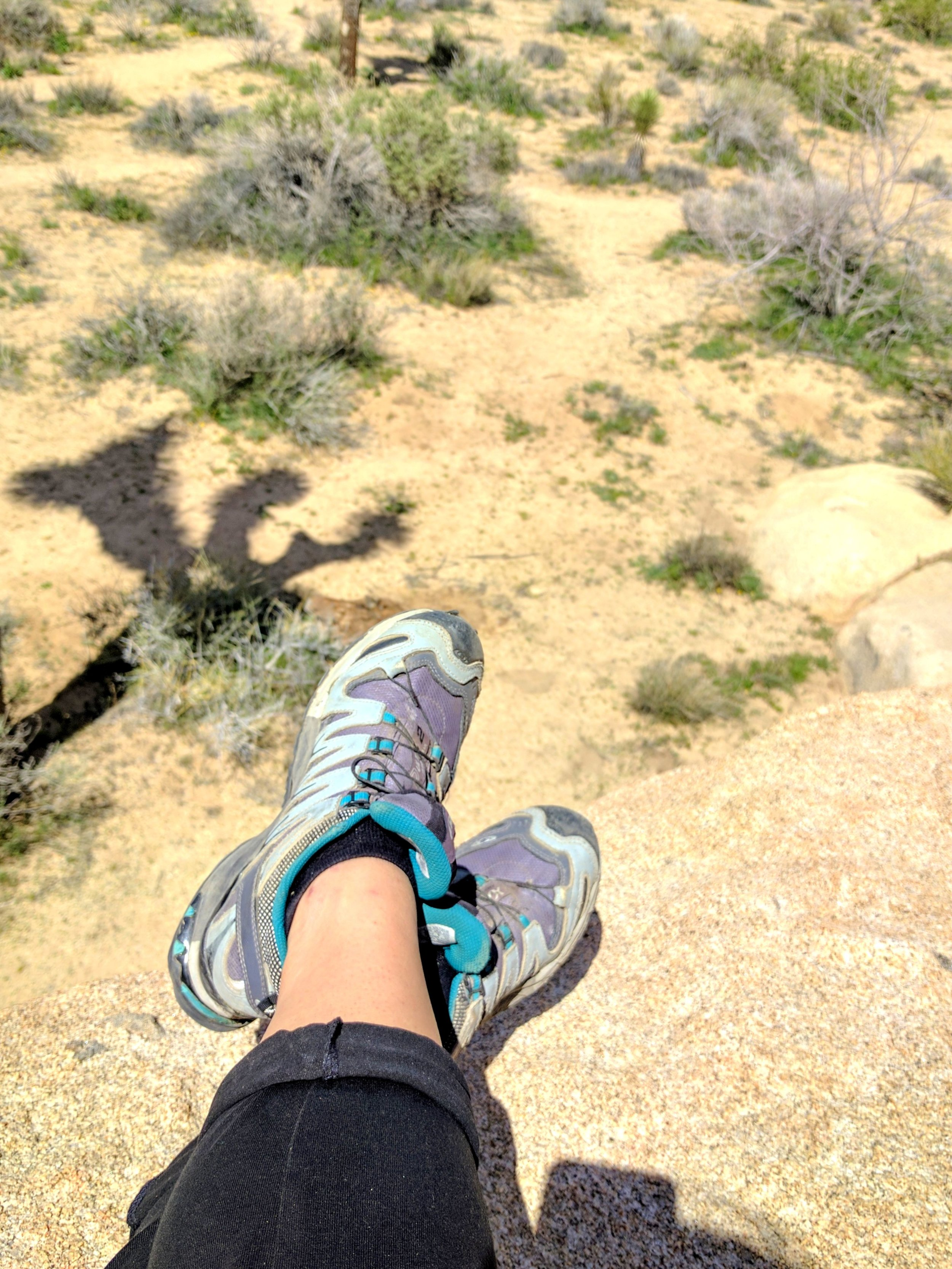 Soloman Hiking Sneakers are my favorite Trip Joshua Tree My First Camping Trip