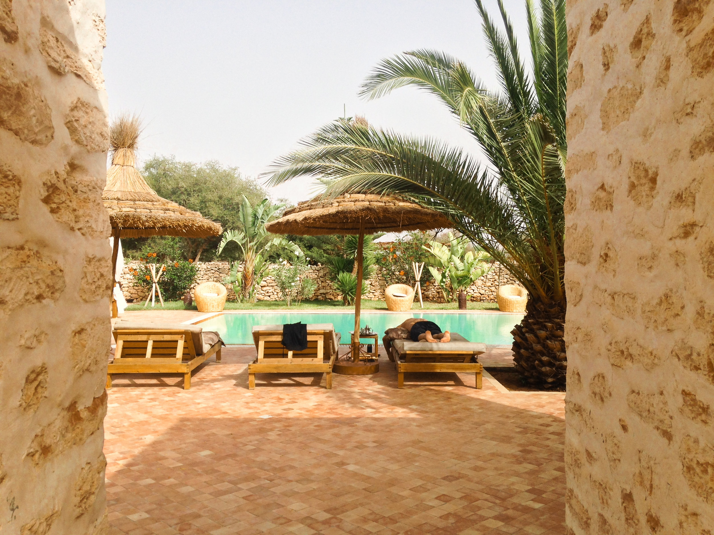 This Beautiful Bed and Breakfast in Morocco was owned by a French Couple. They were lovely, but unfortunately, we could not really speak to them.