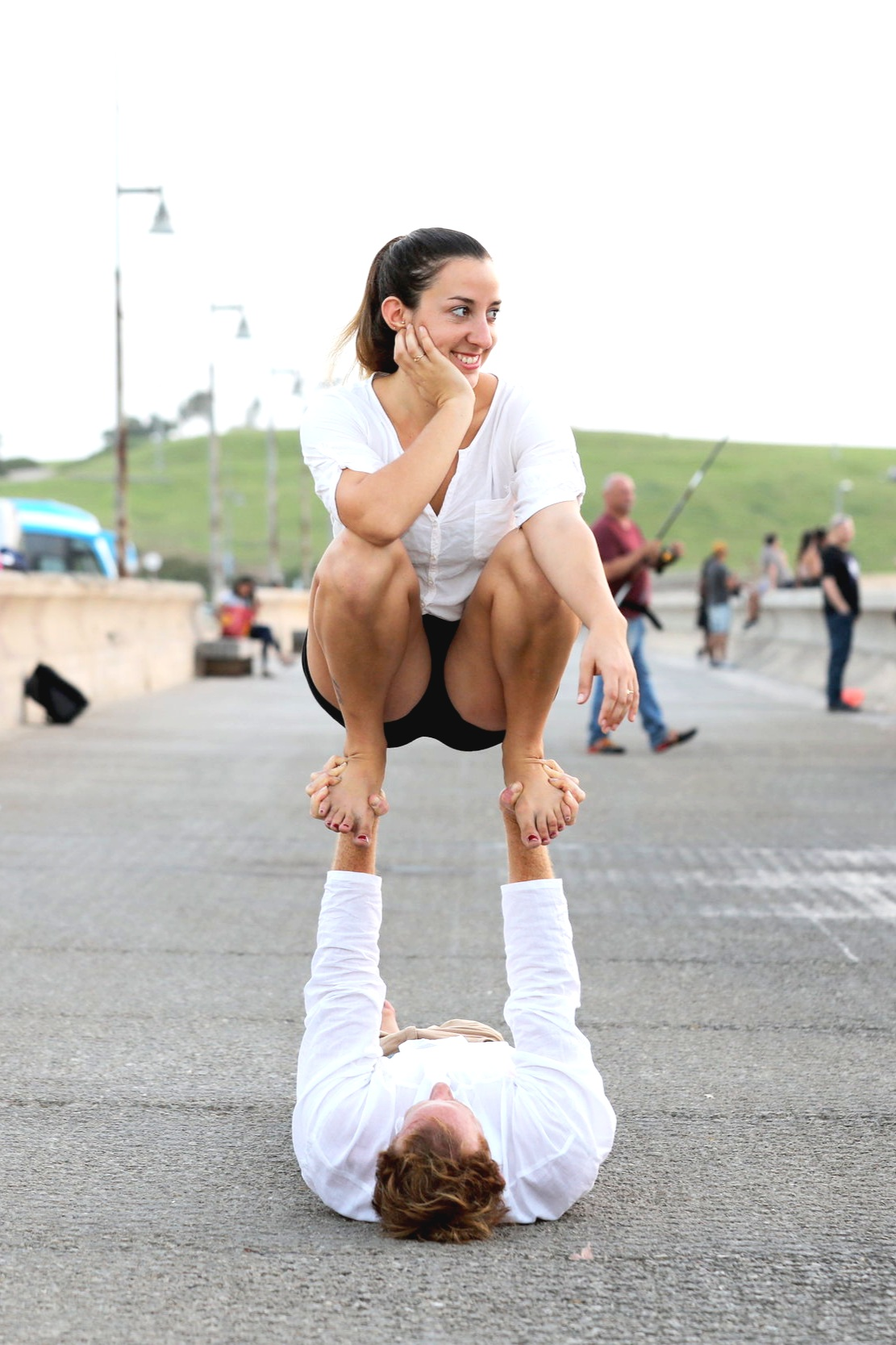 Acroyoga Festival and Acro Conventions Orin Lev Or Flying Foot to Hand