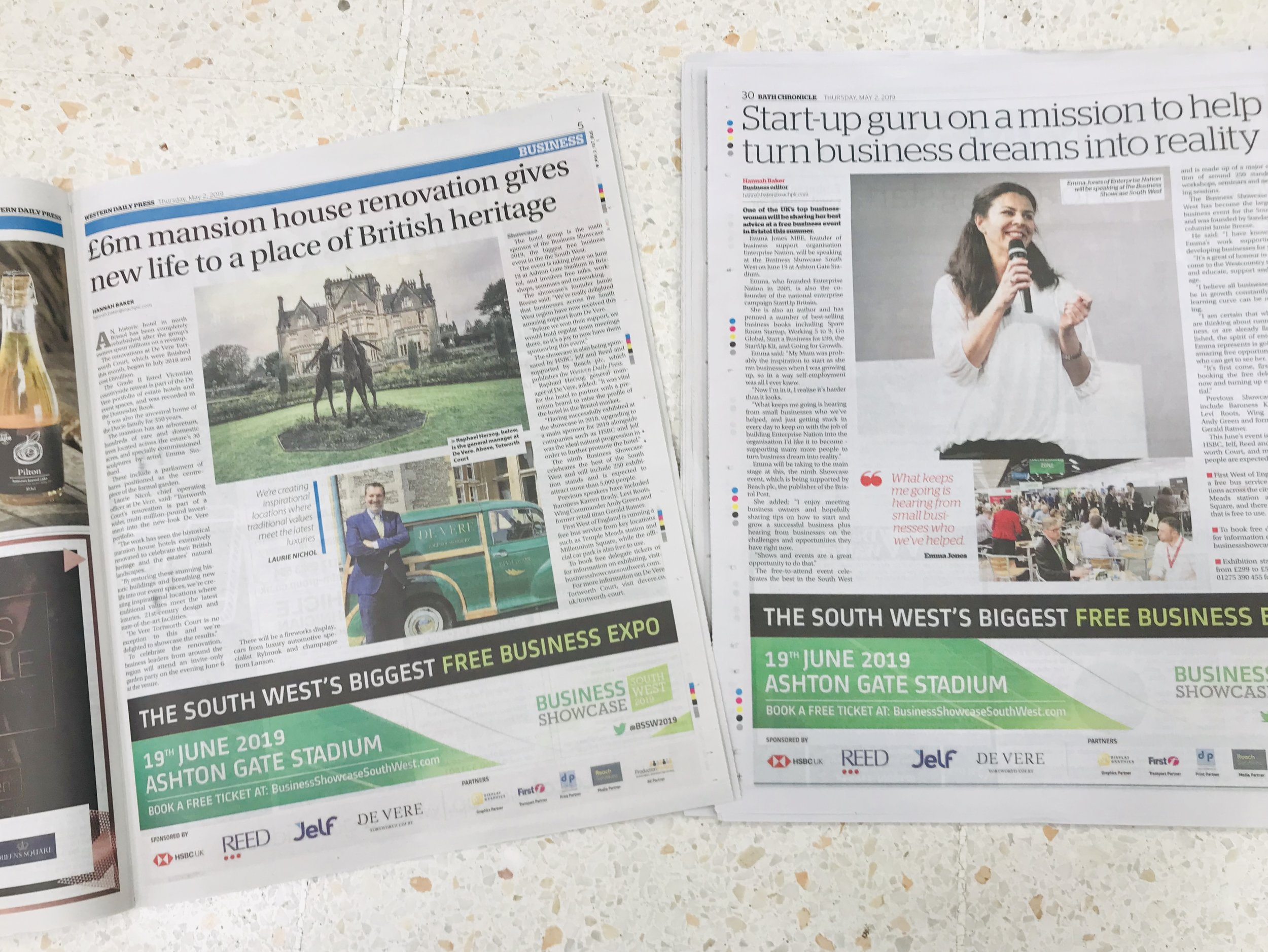 Bath Chronicle and Western Daily 2nd May 19.JPG