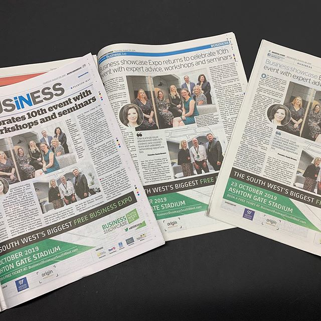 Great press coverage in today's (and other) papers about our amazing NEW Sponsor Origin Workspace. Founded by serial entrepreneur Heather Frankham, and now supporting businesses across the region by backing the 10th Business Showcase South West. It's on 23 Oct at Bristol's Ashton Gate Stadium and free to travel to, park & attend. If you are interested in sponsoring, exhibiting or attending please contact me or visit our website: https://lnkd.in/d6sVF24 #expos #sponsorships #networkingevents #businessnetworking #bssw