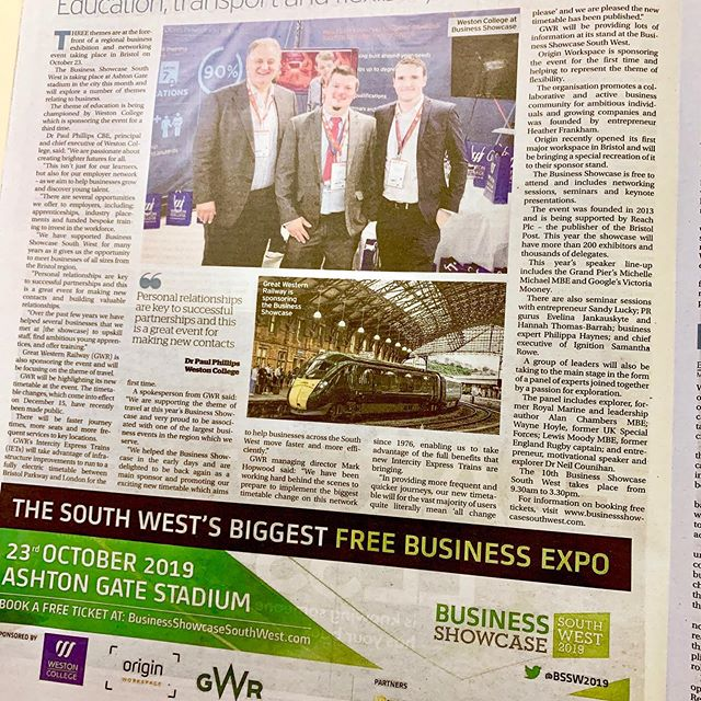 Great coverage today for 23rd October's event. Thank you to our #sponsors Book in today. It's free at #ashton gate
