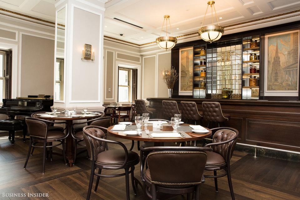 Plantation Shutters: Buttonwood Bar and 1792 Restaurant, 7th Floor, New York Stock Exchange