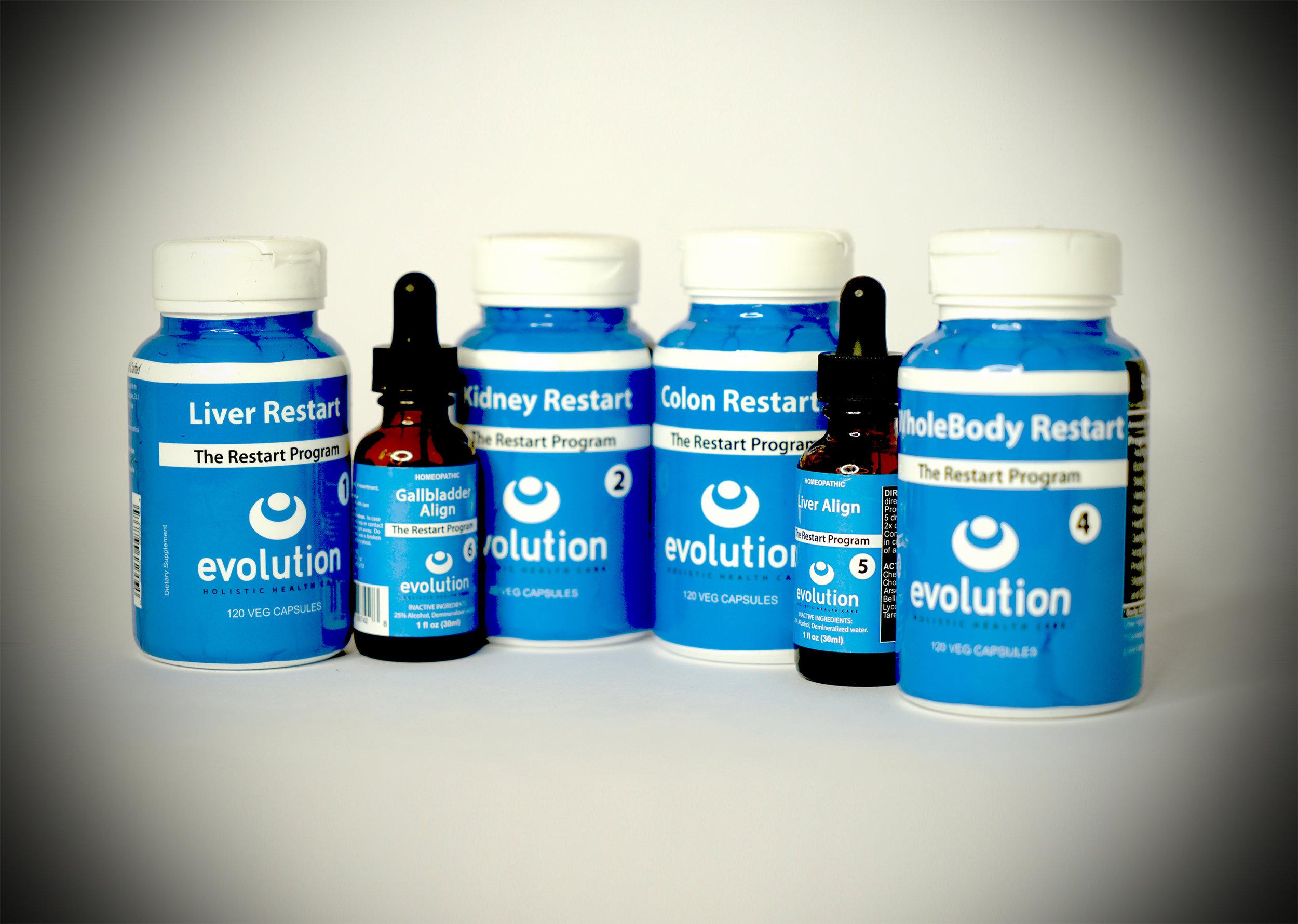 Liver Detox, Colon Detox, Kidney Detox, Restart Detox, Supplement