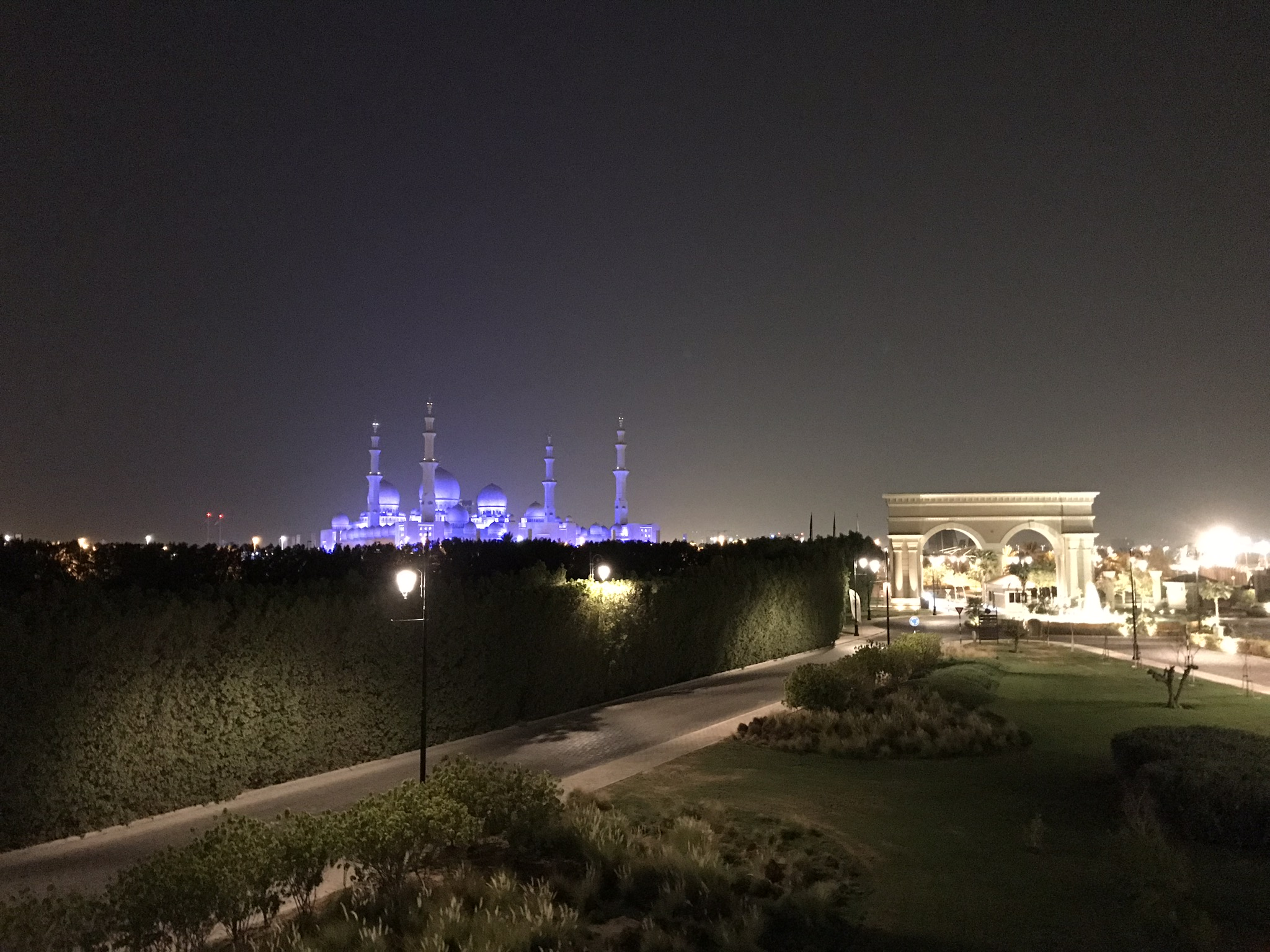 View of the mosque from the Ritz-Carlton