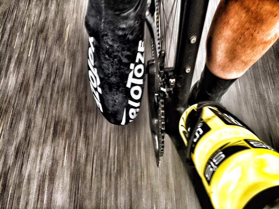 Overshoes or legs out?