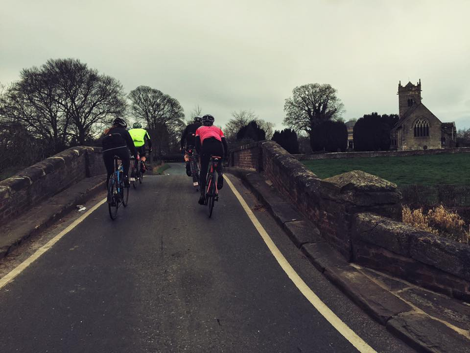 Mixing training rides with social rides.