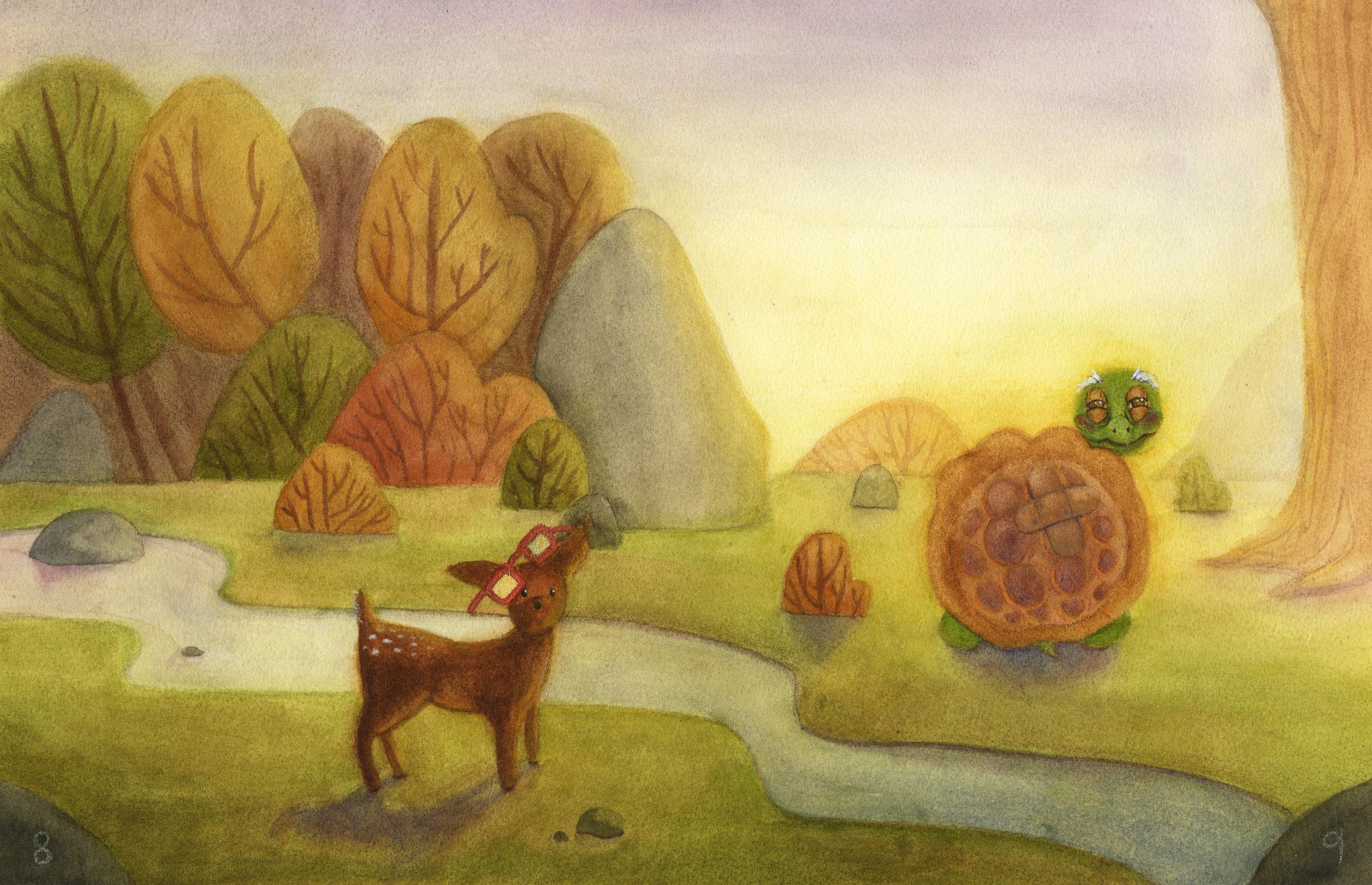 """Watercolor, 8.5 x 17"""", 2017."""