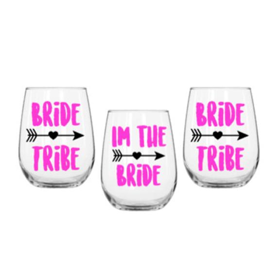Bride tribe wine glasses - $9.25