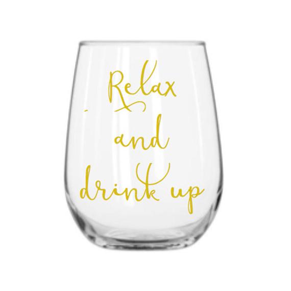 relax wine glass - $13.50