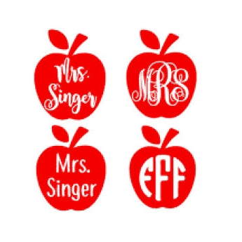 teacher personalized decal - $3.50+