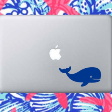 whale laptop Decal - $2.00