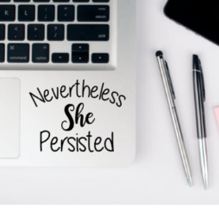 nevertheless laptop decal - $3.50